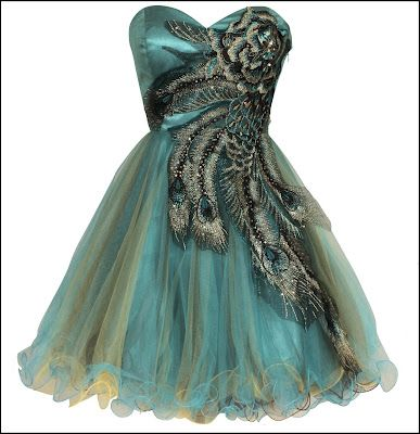 Like the vintage style, but am not sure how it would look in person. Metallic Peacock Embroidered Dress by PacificPlex.