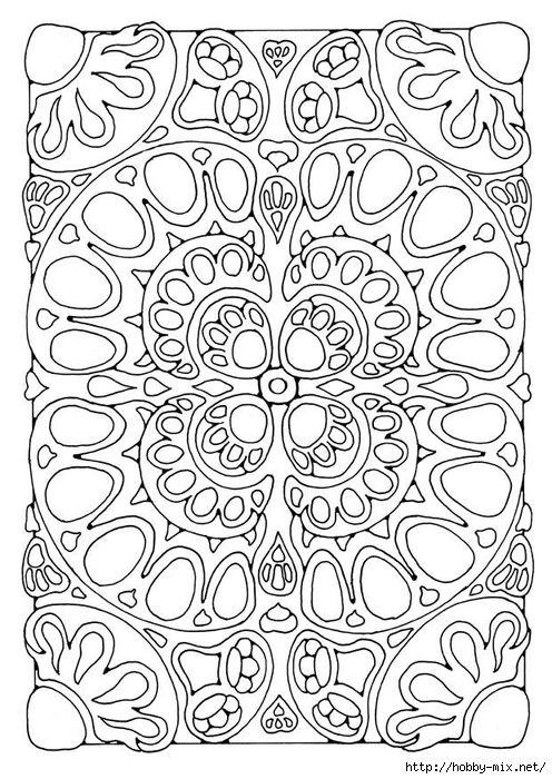 mandala-21800 (496x700, 318Kb) | Coloring Pages- Väritys ...