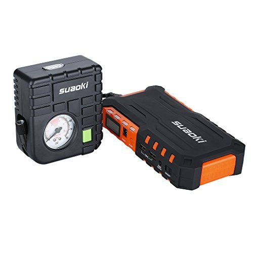 FATHER'S DAY SPECIAL - Jump Starter for Cars and Vehicles - Portable and Multi-Function - with Portable Power Bank And LED Flashlight 400A Peak Current 12000mAh By PowerJill