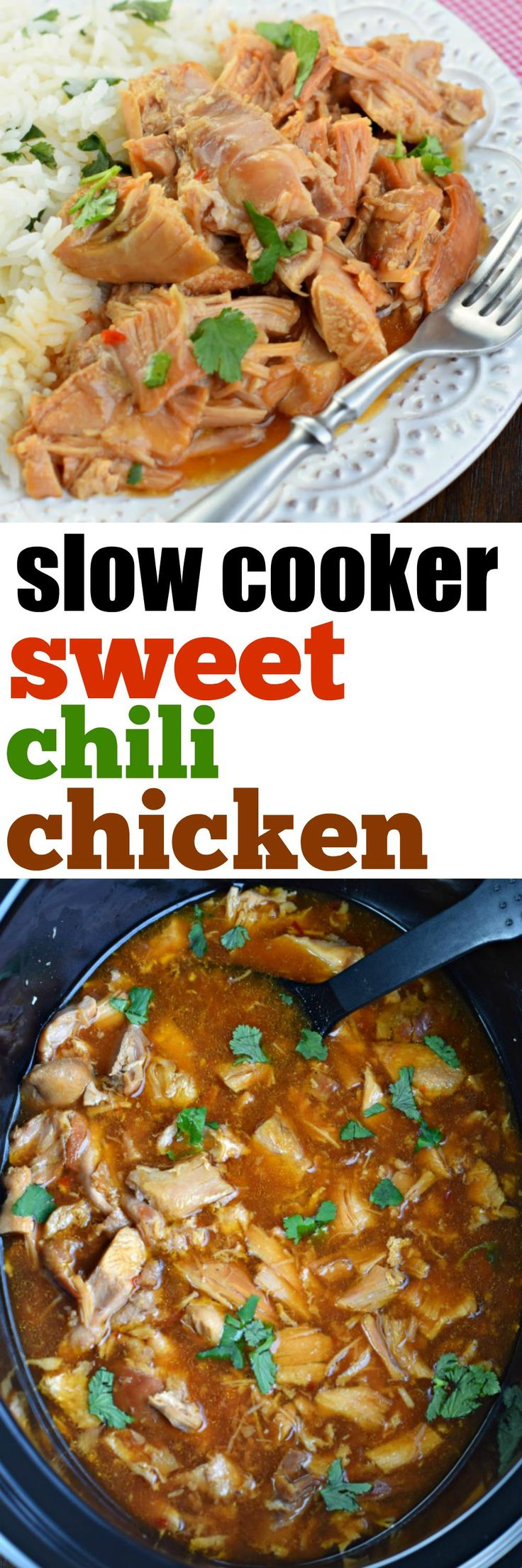 This Slow Cooker Sweet Chili Chicken has a sweet and tangy flavor that ...
