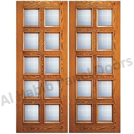 glass wooden double door hpd478 glass panel doors al habib panel doors