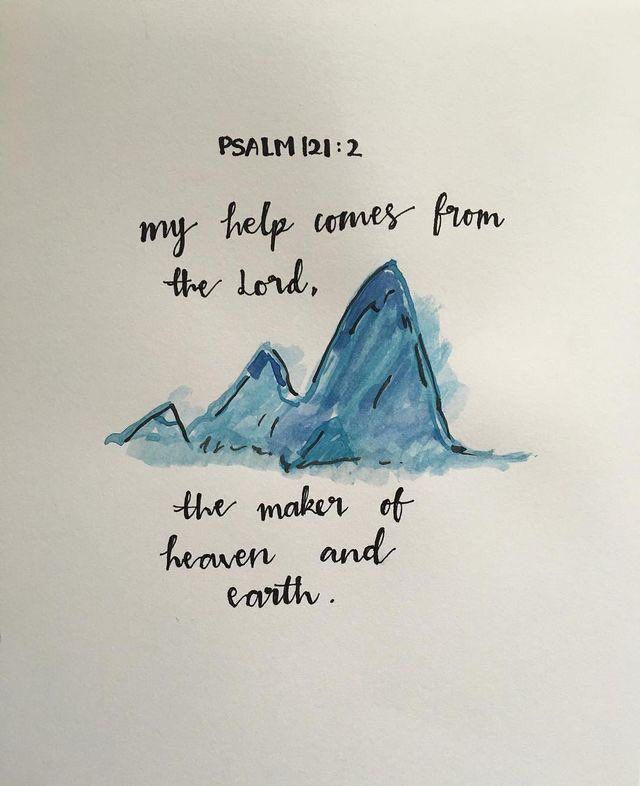 christianity † bible verse painting † psalm 121:2 pinterest: bri_leigh777