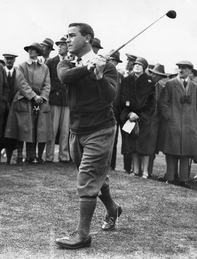 Gene Sarazen used his persimmon 4 wood to double-eagle the par-5 15th at Augusta. (Yes, he later won the 1935 Masters.) Here are nine other golf clubs that've helped seal some BIG TIME Masters wins: http://golfdig.st/H9zBXu, #golf #GeneSarazen