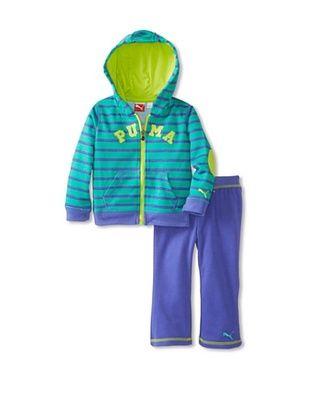 69% OFF Puma Girl's Striped Hoodie Set (Simply Purple)