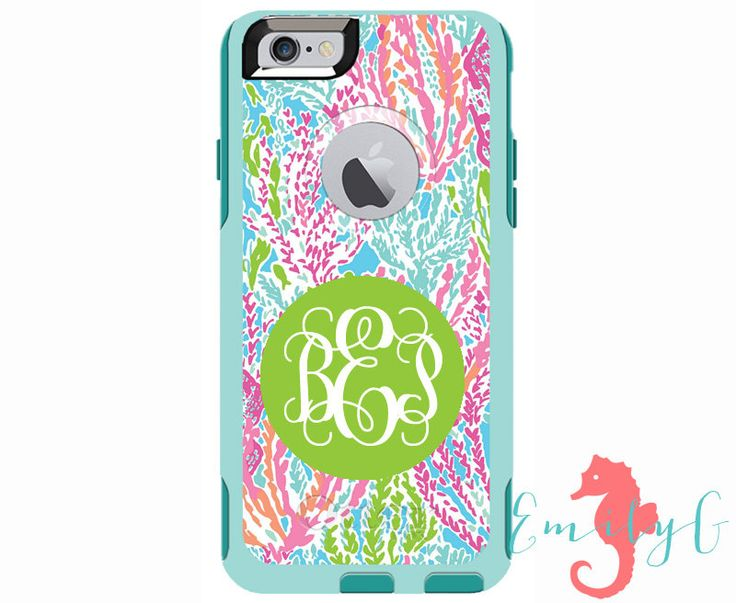 Monogrammed Lilly Pulitzer Inspired Otterbox Commuter Case - iPhone 6/6s Plus, iPhone 6/6s, iPhone 5/5s, Galaxy S6, Galaxy S5, Galaxy Note 4 by ShopEmilyG on Etsy https://www.etsy.com/listing/238296643/monogrammed-lilly-pulitzer-inspired