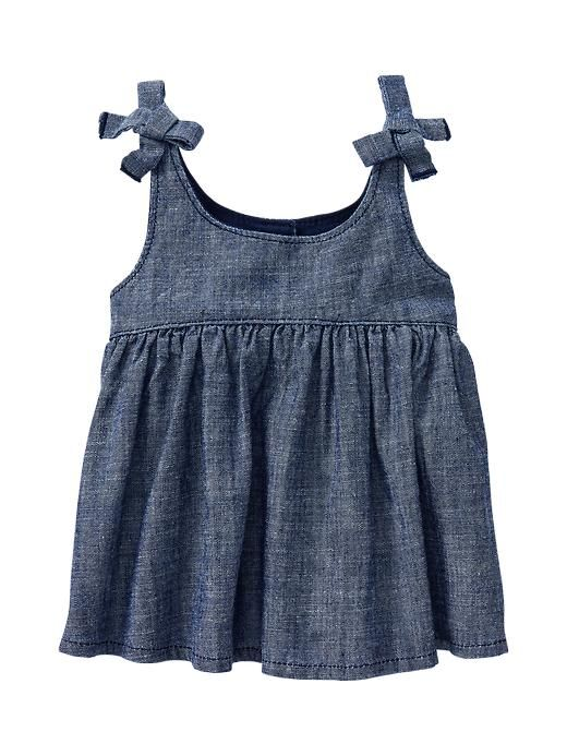 Adapt using Oliver + S's free dress pattern? || Chambray tie tank Product Image