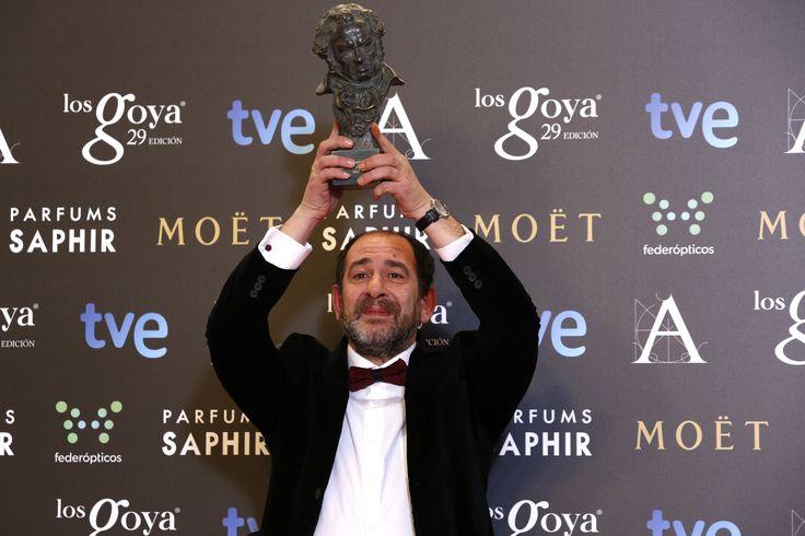 """Premio """"mejor actor de reparto"""". Karra Elejalde, por 'Ocho apellidos vascos'. #goya2015 #federopticos #premiados"""