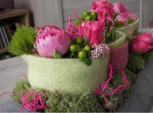 Zomers bloemschikken, uit Assen. Geweldige website!