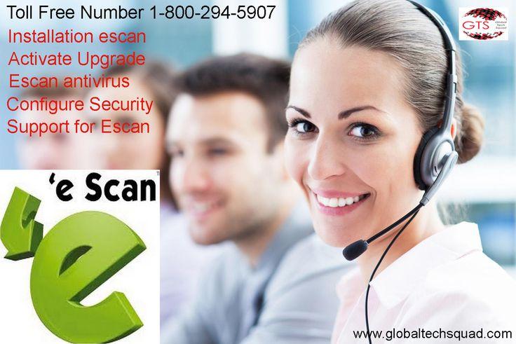 #EscanAntivirus Support Toll Free 1-800-294-5907