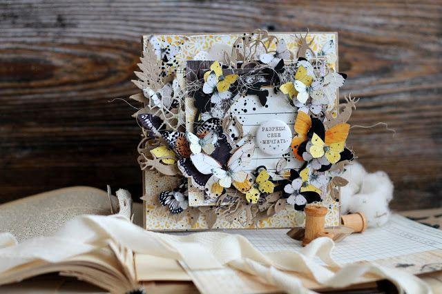Субботний мастер-класс - Многослойная открытка с бабочками - EcoPaper