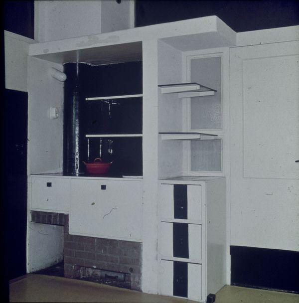 Afbeelding van Rietveld Schröderhuis - keuken - dichtgebouwde fornuishoek