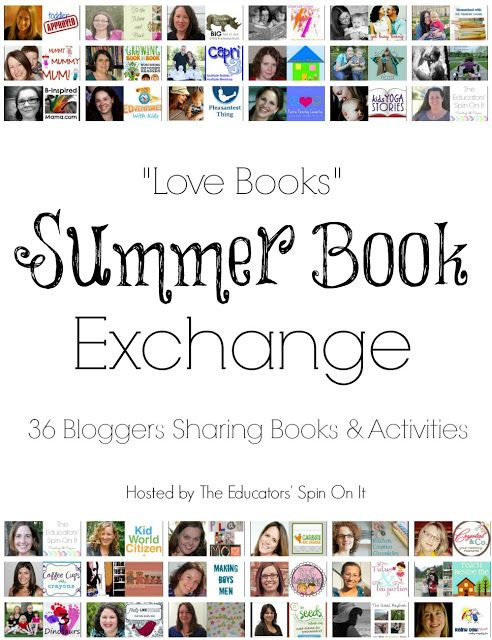 """Looking for Books and Activities to keep your child engaged over the summer?  We invite you to Meet our """"Love Books"""" Summer Book Exchange Participants for 2013! 36 Books and Activities All summer LONG from your favorite kid bloggers!  Hosted by The Educators' Spin On It"""