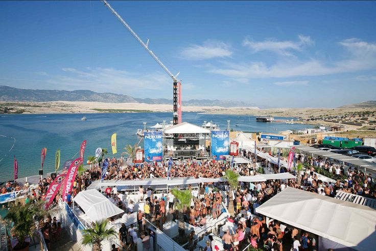Zrce beach on Island of Pag is a place where is party 0-24h