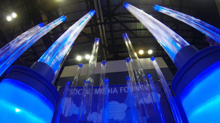 the social media fountain by Ecofenix