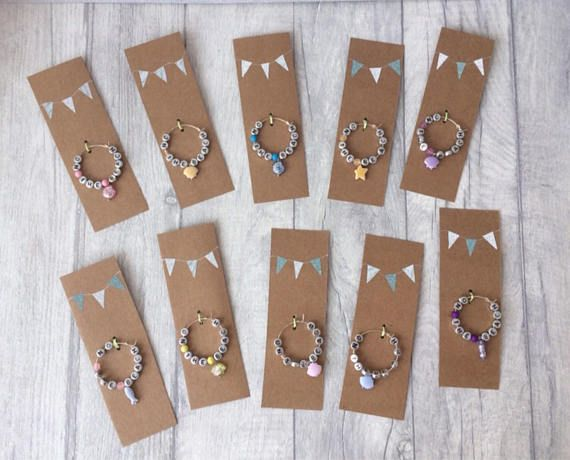 Coastal Beach Themed Wine Glass/Bottle Charms  Set of 10