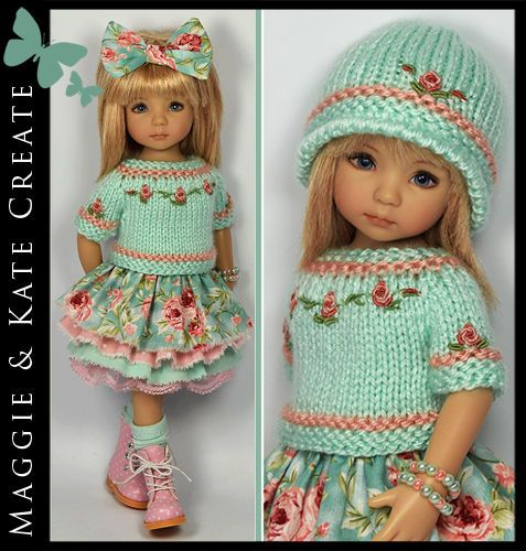 "** ROSES Outfit ** Little Darlings Dianna Effner 13"" Maggie & Kate Create #DiannaEffner"