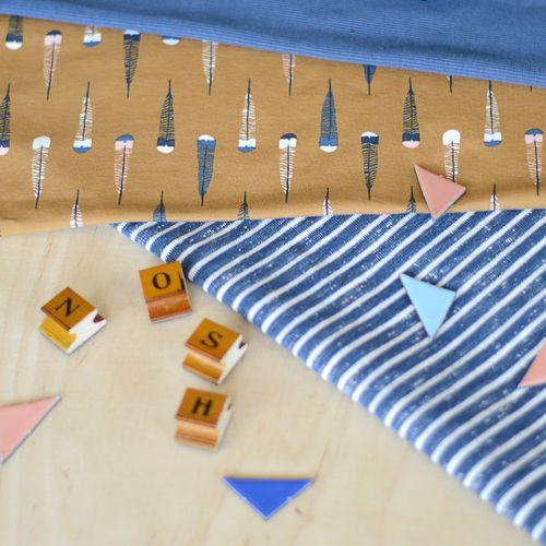 Loopback Sweatshirting, Blue - Vanilla   NOSH Autumn & Winter 2016 Fabric Collection is now available at en.nosh.fi   NOSH syksyn 2016 uutuuskankaat saatavilla verkosta nosh.fi