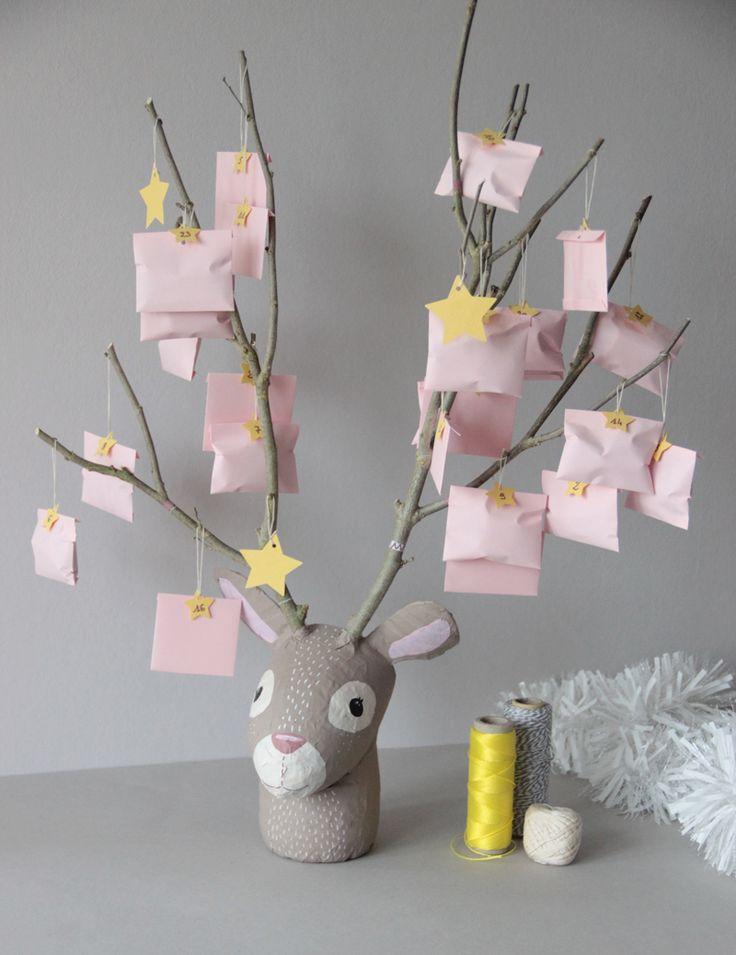 ≡ Créer un calendrier de l'avent DIY et upcycled en tête de renne