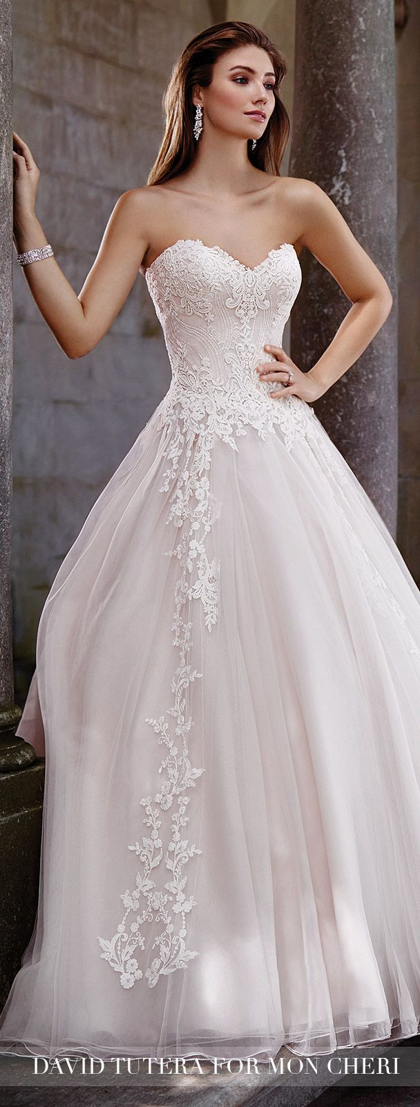 Blush Wedding Dress by David Tutera for Mon Cheri 2017