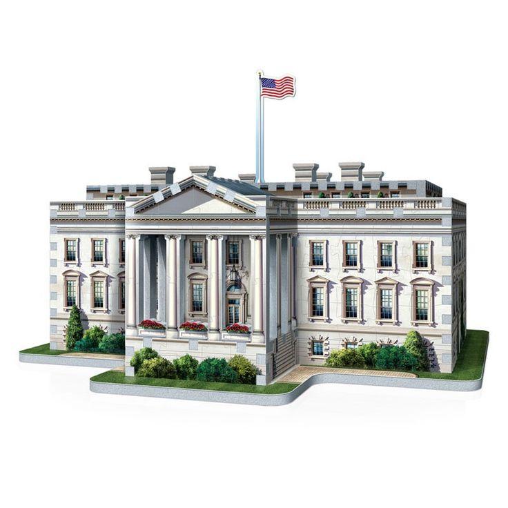 Waan je in Washington met deze uitdagende 3D puzzel van het witte huis. Puzzel de 490 puzzelstukjes van stevig foamkarton aan elkaar om het gebouw van 25 cm hoog vorm te geven. Inclusief kartonnen accessoire en instructieboekje. Afmeting: 34 x 30,5 x 25 cm - Wrebbit 3D Puzzel – Witte Huis, 490st.