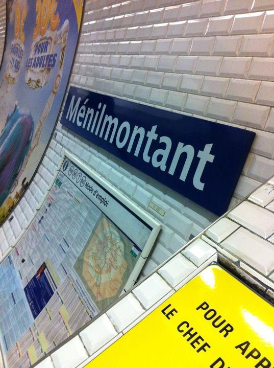 Métro Ménilmontant [2] en Paris, Île-de-France