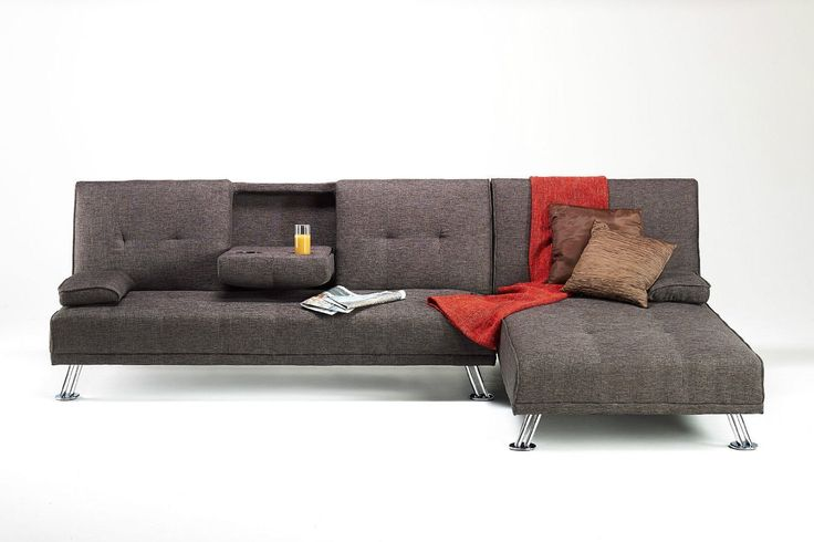 Fabric Corner Unit Suite Sofa Bed Living Room Furniture (Brown): Amazon.co.uk: Kitchen & Home