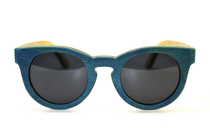 Teal Bamboo Sunglasses with Polarized Lenses