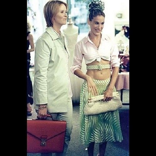 """The random """"it's like my ribcage is wearing a necklace"""" look. 