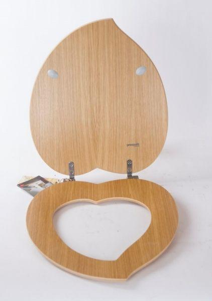 Pressalit Holz Klodeckel WC Sitz Deckel Eiche natur