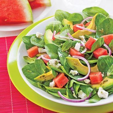 Salade d'avocats, melon d'eau et feta - Recettes - Cuisine et nutrition - Pratico Pratiques