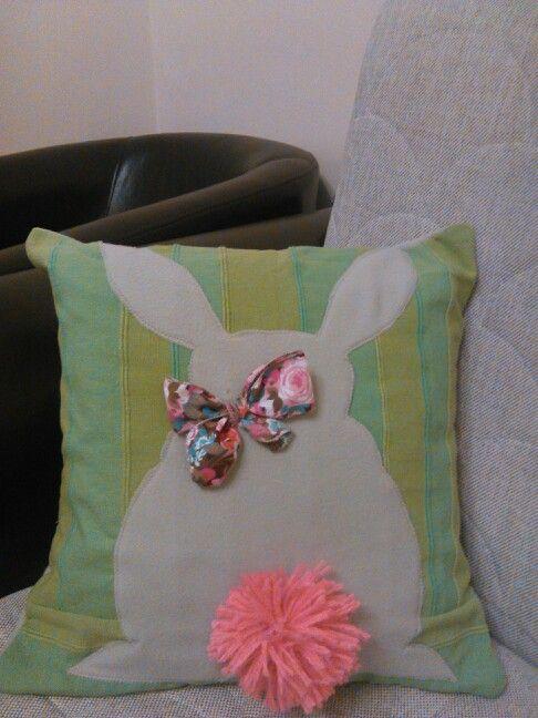 Easter bunny pillow
