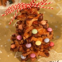 Le sapin en biscuits