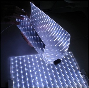 """A Scottish SME has applied their innovative LED (light emitting diode) lightguide technology to create unique and versatile LED Light Tiles which allow the creation of innovative new consumer lighting products with a """"bulbless lamp"""" design. Potential products are shown in the images."""