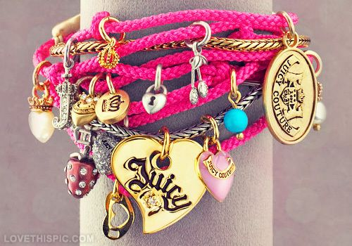 Juicy Couture fashion pink jewelry pretty bracelet accessories juicy couture