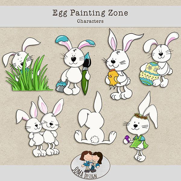 SoMa Design Egg Painting Zone Characters