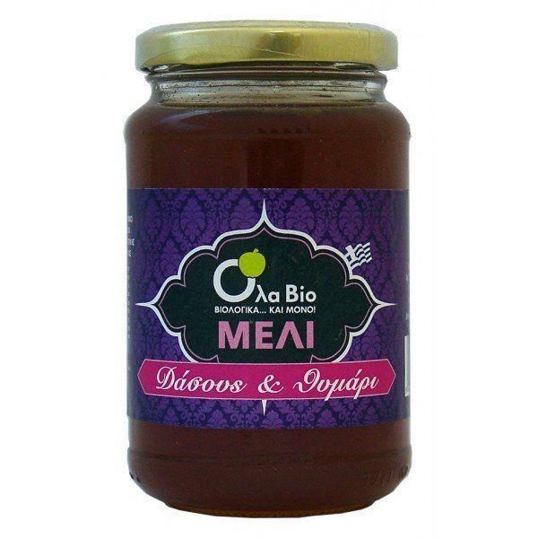 BIO Thyme & Forests Raw Honey Jar 450 gr from CRETE GREECE 100% ORGANIC HONEY  #OlaBio