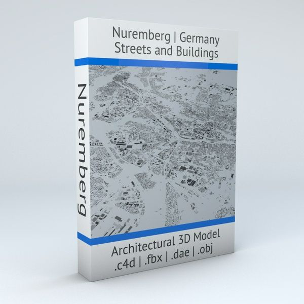 Nuremberg Streets and Buildings Architectural 3D Model