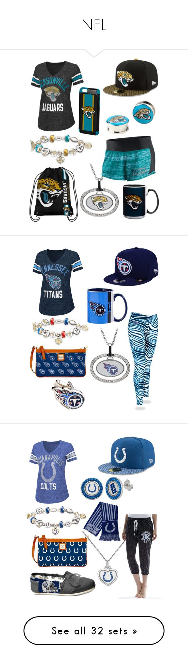 """""""NFL"""" by amy-stroud ❤ liked on Polyvore featuring The Bradford Exchange, G-III, Forever Collectibles, NIKE, New Era, Hot Topic, The Memory Company, Zubaz, Dooney & Bourke and Cufflinks, Inc."""