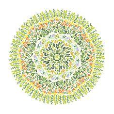 Vector Circle of Flower vector art illustration