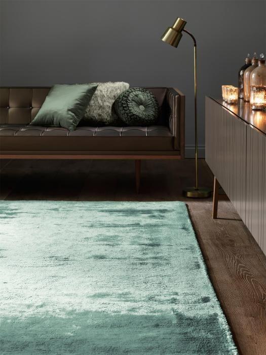 Ein Teppich zum Träumen! Der hochwertige Teppich in hellem Türkis veredelt jeden Raum.