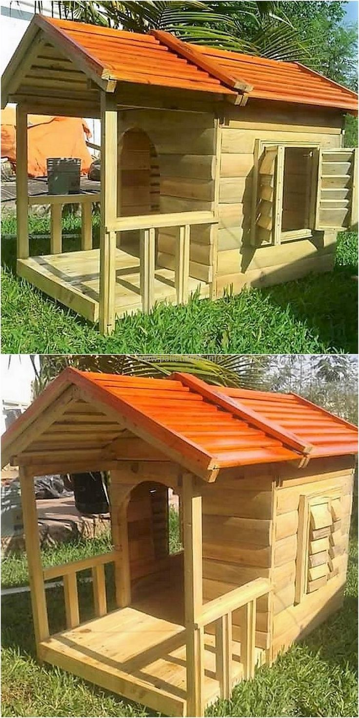 25 best playhouse for kids ideas on pinterest kids for Building a wendy house from pallets