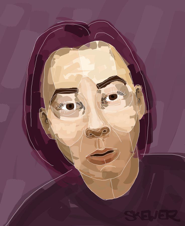 Selfportrait illustration by Nada Rysankova art