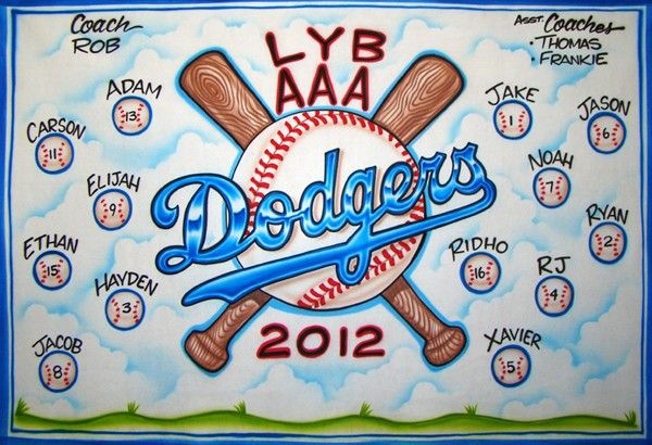 Baseball Banners - Dodgers - Airbrush