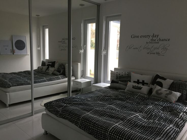 #home decor #black and #white #house #room #bedroom #bed