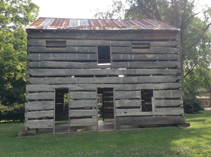 Slave cabin. Behind Sullivan university in louisville ky.