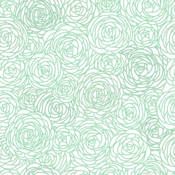 Removable Wallpaper - Blossom Print Mint