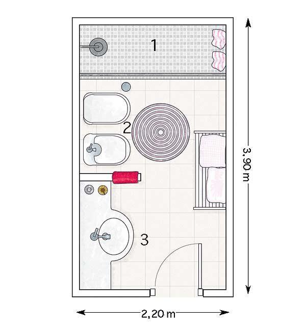 27 best planos de viviendas images on pinterest homes for Planos de banos