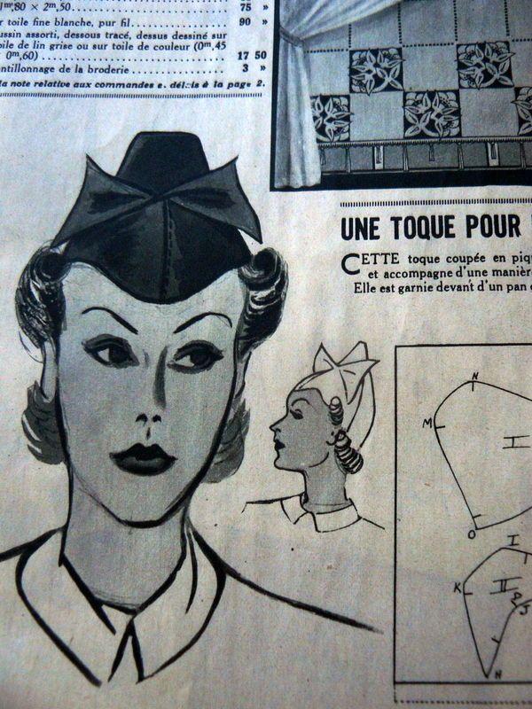 VTG 1930s PARIS SEWING PATTERN MAGAZINE MODE BEAUTE 1936 HAT DRAFTING CATALOG   eBay