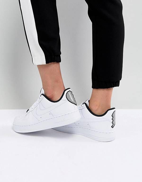 Nike Air Force 1  07 Heart Trainers  36528ed25