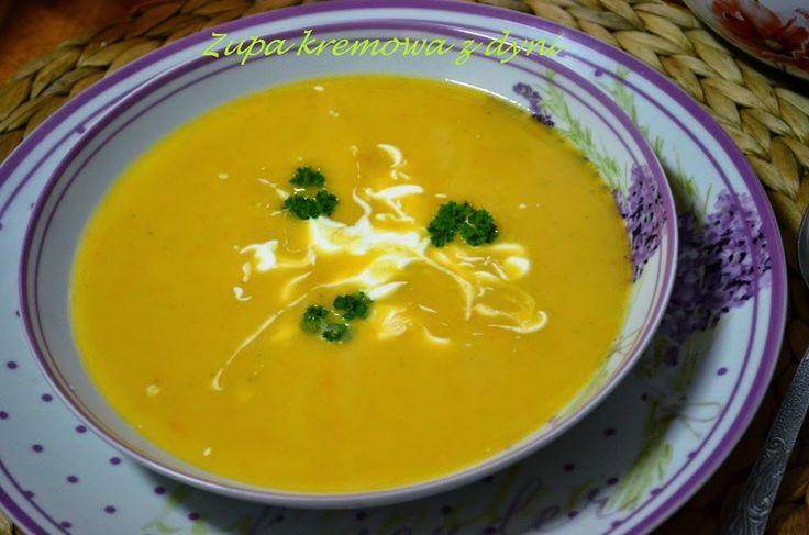 Smak, zapach, kolor, tradycja z nutką nowoczesności...: Zupa z dyni-kremowa zupa z dyni-rewelacyjna zupa z...